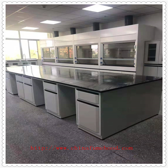 Fireproof Laboratory Workbench Furniture / Chemical Resistant Lab Tables